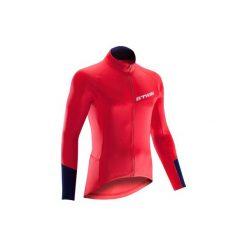 Koszulka długi rękaw na rower ROADCYCLING 500 męska. Białe odzież rowerowa męska marki KIPSTA, z elastanu. Za 79,99 zł.