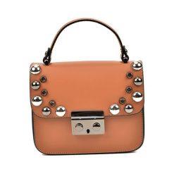Torebka w kolorze koniaku - (S)18 x (W)15 x (G)7 cm. Brązowe torebki klasyczne damskie Bestsellers bags, w paski, z materiału. W wyprzedaży za 229,95 zł.