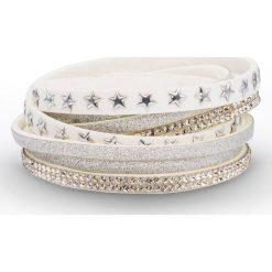 Bransoletki damskie: Bransoletka zawijana na ręce w gwiazdy bonprix biały