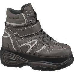 Sneakersy na platformie Catwalk popielate. Szare sneakersy damskie Catwalk, z materiału. Za 97,00 zł.