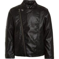 Benetton Kurtka ze skóry ekologicznej black. Czarne kurtki męskie skórzane marki Benetton. Za 209,00 zł.