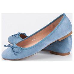 Baleriny damskie: Niebieskie zamszowe baleriny Seastar niebieskie