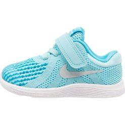 Nike Performance REVOLUTION 4 Obuwie do biegania treningowe bleached aqua/metallic silver/light blue fury/white. Brązowe buty do biegania damskie marki N/A, w kolorowe wzory. Za 129,00 zł.