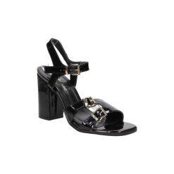 Rzymianki damskie: Sandały S.barski  Sandały lakierowane na słupku  80-3