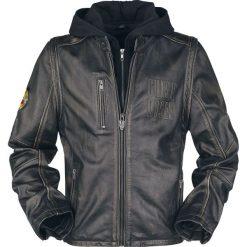 Guns N' Roses EMP Signature Collection Kurtka skórzana brązowy/czarmy. Brązowe kurtki męskie bomber l, z aplikacjami, ze skóry, z kapturem. Za 934,90 zł.