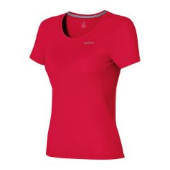 Odlo Koszulka s/s crew neck MAREN czerwona r. XL (221821). Czerwone topy sportowe damskie Odlo, s. Za 149,95 zł.