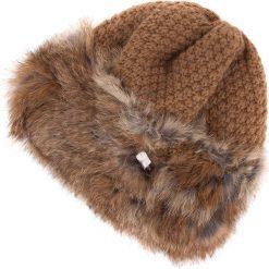 83-HF-010-5 Czapka damska. Brązowe czapki zimowe damskie Wittchen, z materiału. Za 129,00 zł.