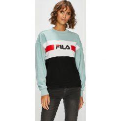 Fila - Bluza Angela Crew. Szare bluzy z nadrukiem damskie marki Fila, m, z bawełny, bez kaptura. Za 299,90 zł.
