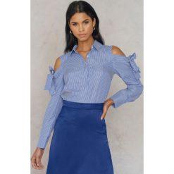Koszule wiązane damskie: Timing Koszula z odkrytymi ramionami - Blue,Multicolor