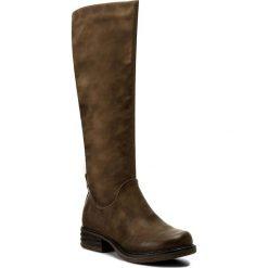 Kozaki JENNY FAIRY - WS16093-1 Beżowy Ciemny. Brązowe buty zimowe damskie marki Jenny Fairy, ze skóry ekologicznej, na obcasie. W wyprzedaży za 104,99 zł.