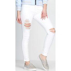 Spodnie damskie: Białe Spodnie Yank