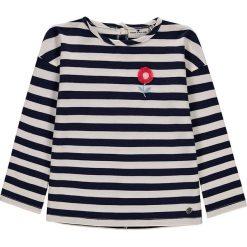Bluza w kolorze granatowo-białym. Białe bluzy niemowlęce Tom Tailor, z aplikacjami, z bawełny. W wyprzedaży za 67,95 zł.