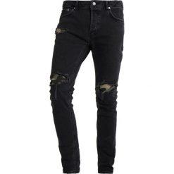 Jeansy męskie regular: Topman CAMO Jeansy Slim Fit black