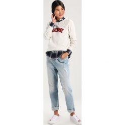 Bluzy rozpinane damskie: Abercrombie & Fitch LOGO CREW Bluza cream
