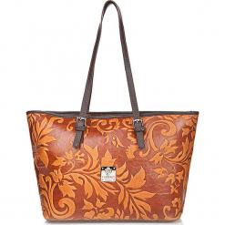 Skórzana torebka w kolorze pomarańczowym - 42 x 26 x 16 cm. Brązowe torebki klasyczne damskie I MEDICI FIRENZE, z materiału. W wyprzedaży za 434,95 zł.