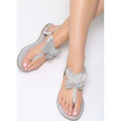 Sandały damskie: Szare Sandały Flashy Pink