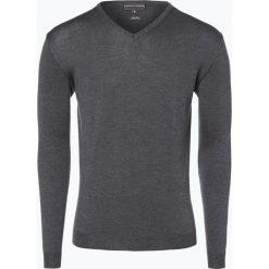 Swetry klasyczne męskie: Finshley & Harding – Sweter męski, szary