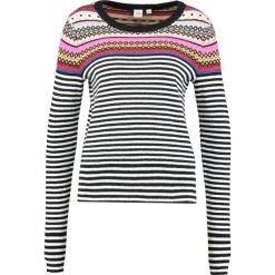 Swetry klasyczne damskie: GAP CREW NECK PLACED STRIPE FAIRISLE Sweter crazy fairisle