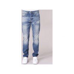 Jeansy straight leg G-Star Raw  3301 TAPERED. Czarne jeansy męskie marki G-Star RAW, l, z materiału, retro. Za 351,20 zł.