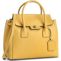 Torebka CREOLE - K10458  Żółty. Żółte torebki klasyczne damskie Creole, ze skóry, duże. W wyprzedaży za 239,00 zł.