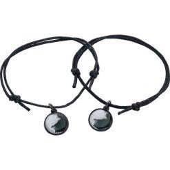 Biżuteria i zegarki: Mysterium® Wolves Pack Bransoletka skórzana czarny