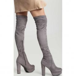 Szare Kozaki Born To Be Wild. Szare buty zimowe damskie vices, na wysokim obcasie. Za 149,99 zł.