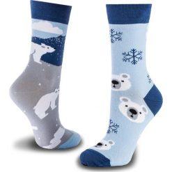 Skarpety Wysokie Unisex MANY MORNINGS - Polar Bear Niebieski. Białe skarpetki męskie marki B'TWIN, z elastanu. Za 29,00 zł.