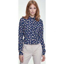 Bluzki damskie: Klasyczna Bluzka Koszulowa Wzór Dynie
