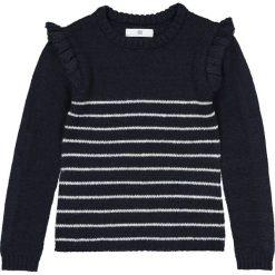 Swetry dziewczęce: Sweter w paski, z falbankami, 3-12 lat