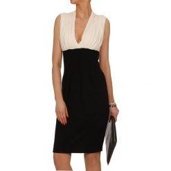 Sukienki hiszpanki: Sukienka w kolorze czarno-kremowym