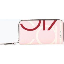 Calvin Klein - Portfel damski, różowy. Czerwone portfele damskie Calvin Klein, z nadrukiem. Za 299,95 zł.