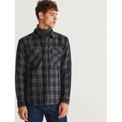 Pikowana koszula regular fit - Niebieski. Białe koszule męskie marki Reserved, l, z dzianiny. Za 189,99 zł.