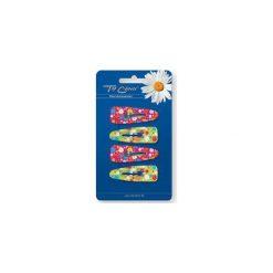 """TOP CHOICE Spinka """"PYK"""" Kwiatki Glitter czerwone i żółte 4szt 6523200. Czerwone ozdoby do włosów TOP CHOICE. Za 3,73 zł."""