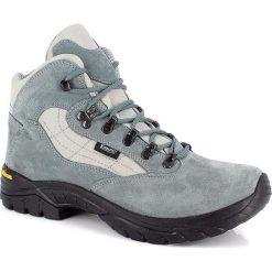 """Buty trekkingowe męskie: Skórzane buty trekkingowe """"Nimba"""" w kolorze szaroniebieskim"""
