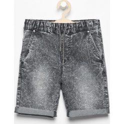 Odzież chłopięca: Jeansowe krótkie spodenki – Czarny