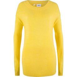 Sweter z dekoltem w łódkę bonprix żółty tulipan. Żółte swetry klasyczne damskie bonprix, z dekoltem w łódkę. Za 54,99 zł.