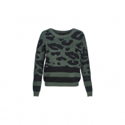Swetry Only  ONLELLI. Szare swetry klasyczne damskie marki ONLY, s, z bawełny, z okrągłym kołnierzem. Za 149,00 zł.
