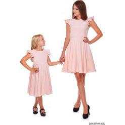 LATORI - Sukienka z kolekcji Mama i Córka LD16. Różowe sukienki dziewczęce z falbanami Pakamera, eleganckie. Za 69,00 zł.