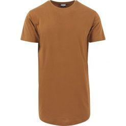 T-shirty męskie z nadrukiem: Urban Classics Shaped Long Tee T-Shirt czerwono-brązowy