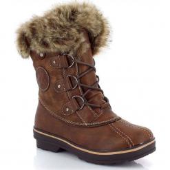 """Kozaki zimowe """"Candice"""" w kolorze jasnobrązowym. Szare buty zimowe damskie marki Marco Tozzi. W wyprzedaży za 318,95 zł."""