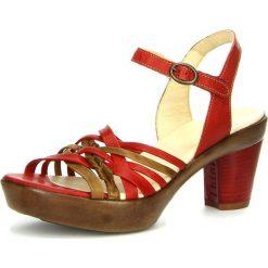 """Sandały damskie: Skórzane sandały """"Gspusal"""" w kolorze czerwonym"""