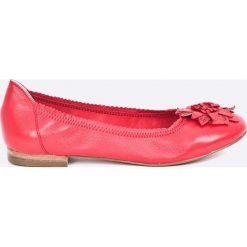 Caprice - Baleriny. Różowe baleriny damskie lakierowane Caprice, z materiału. W wyprzedaży za 159,90 zł.