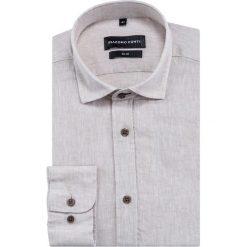 Koszula SIMONE KLES000014. Brązowe koszule męskie na spinki marki FORCLAZ, m, z materiału, z długim rękawem. Za 169,00 zł.
