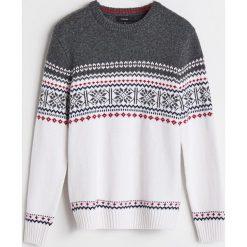 Sweter z domieszką wełny - Biały. Białe swetry klasyczne męskie Reserved, l, z wełny. Za 139,99 zł.