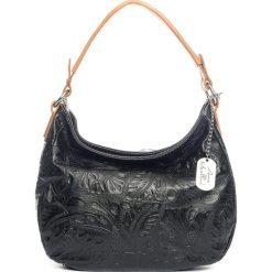 Torebki klasyczne damskie: Skórzana torebka w kolorze czarnym – 27 x 23 x 12 cm