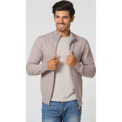 Swetry męskie: Kardigan w kolorze szarobrązowym