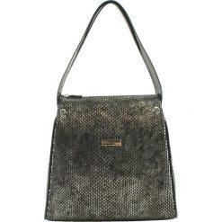 Torebki klasyczne damskie: Skórzana torebka w kolorze srebrnym – (S)27 x (W)25 x (G)16 cm