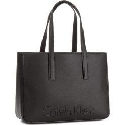 Shopper bag damskie: Torebka CALVIN KLEIN BLACK LABEL – Edge Medium Shopper K60K603986 001