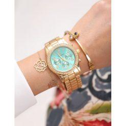 Zegarki damskie: Złoto-Miętowy Zegarek For Style