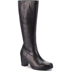 Kozaki GABOR - 95.549.27 Schwarz. Czarne buty zimowe damskie Gabor, z materiału, przed kolano, na wysokim obcasie, na obcasie. Za 789,00 zł.